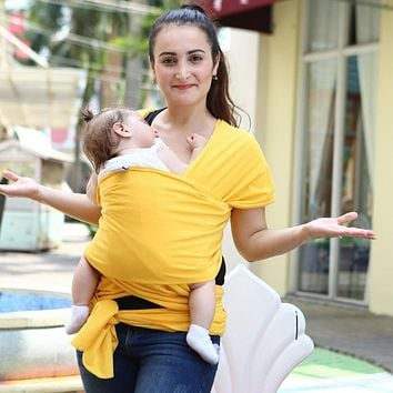 Multi functional Infant Sling Soft Natural Wrap Baby Backpack Carrier Breathable Mesh Baby Nursing Cover