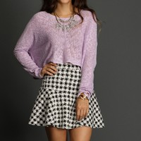 Sale-lavender Sweet As Candy Sweater