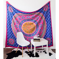 Floral Medallion Tapestry