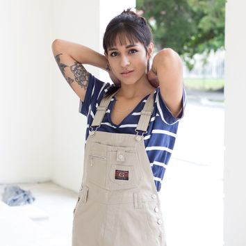 New Vintage Cut-off Overalls Dungarees M