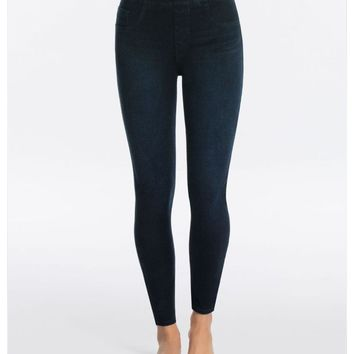 Jean-ish Ankle Leggings Twilight Rinse
