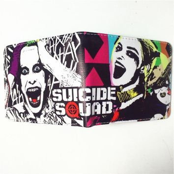 Wallets Movie Suicide Squad Wallet Women Men Student Anime Purse Bag Batman Harley Quinn Wallet For Teenager W368
