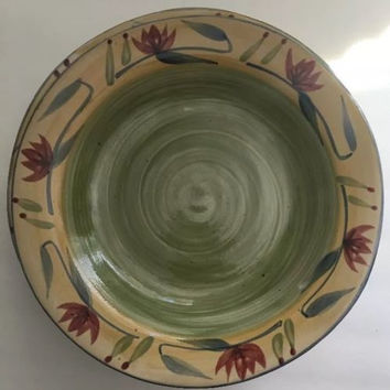 Pier 1 Imports Hand Painted Pottery Elizabeth Multi-Color Stoneware 6 Pasta Bowl