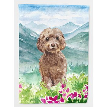 Mountian Flowers Labradoodle Flag Garden Size CK1988GF