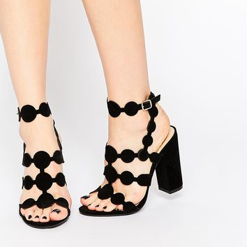 Public Desire Farah Black Heeled Sandals at asos.com