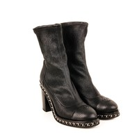 Chanel Tall Upper Leather Boots