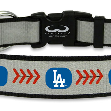 Los Angeles Dodgers Reflective Large Baseball Collar