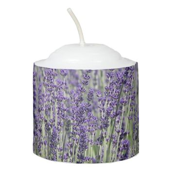 Lavender Fields Floral Photo Votive Candle