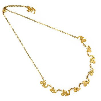 Japanese Love - Gold Delicate Necklace
