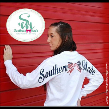 Southern Made, NEW (NAVYStars and Stripes Comfort Color Tee's