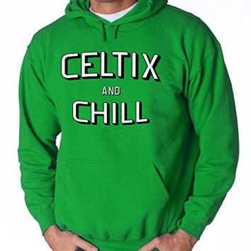 "Boston Celtics Netflix ""Celtix and Chill"" Hooded Sweatshirt ADULT MEDIUM"