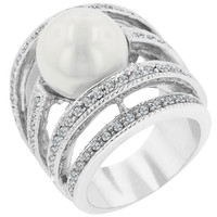Right-hand Pearl Ring, size : 05
