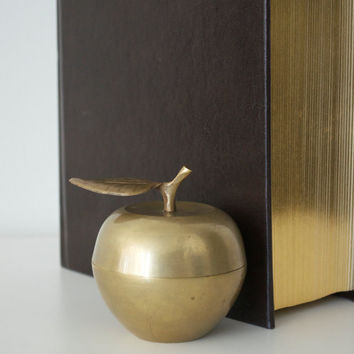 Vintage brass apple by SCAVENGENIUS on Etsy