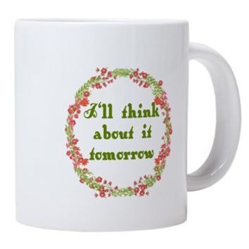 I'll Think About it Tomorro 20 oz Ceramic Mega Mug> I'll Think About it Tomorrow Scarlett> Rhett And Scarlett