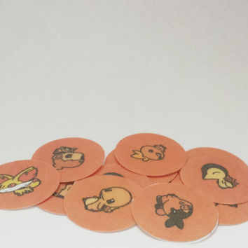 Pokemon Fire Starters Sticker Set