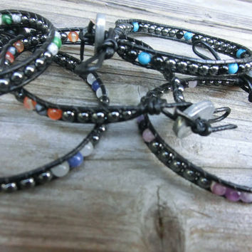 Handmade Men Fashion Jewelry - Vitality and Grounding Powerstone Hematite Bracelet