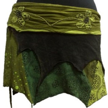 Wrap Skirt/Earthy Pixie Mini Olive/FREE SHIPPING TODAY