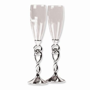 Love Knot Flutes - Etching Personalized Perfect Wedding Gift