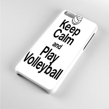 Keep Calm Play On Volleyball iPhone 5c Case