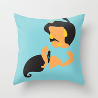 Jasmine - Aladdin Throw Pillow by Adrian Mentus | Society6