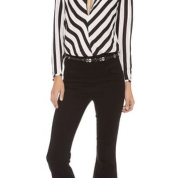 By Malene Birger Lancie Striped Blouse   SHOPBOP   Use Code: INTHEFAMILY25 for 25% Off