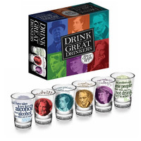 """Great Drinkers"" of Literature Shot Glass Set"