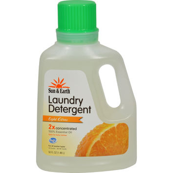 Sun and Earth 2x Concentrated Laundry Detergent - Light Citrus Scent - 50 oz