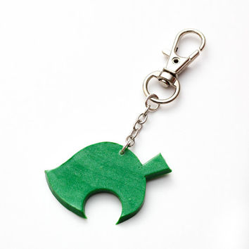 Animal Crossing New Leaf keychain - nintendo, acnl, new leaf accessories, video games, gaming