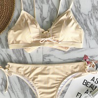 Cupshe Little Cute Stripe Bikini Set