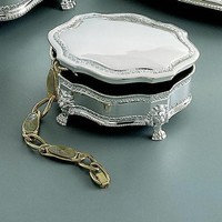 Creative Gifts Princess Victorian Jewelry Box, Silver Plated.