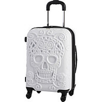 IT Luggage 4 Wheel Hardside Expandable Spinner with Skull Emboss 3 Piece Luggage Set - eBags.com