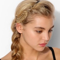 Engraved Leaf Suede Headwrap - Urban Outfitters