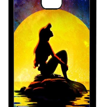 The Little Mermaid Disney Movie silhouette Samsung Galaxy S5 Cases - Hard Plastic, Rubber Case