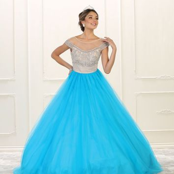 Long Quinceanera Prom Dress Sweet 16 Ball Gown