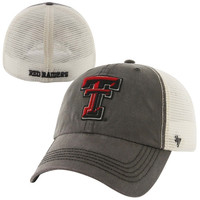 47 Brand Texas Tech Red Raiders Caprock Canyon Logo Flex Hat - Gray/White
