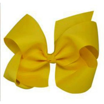 Grosgrain Boutique Hairbow, Yellow
