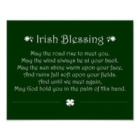 Irish Blessing Poster from Zazzle.com
