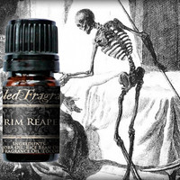 Grim Reaper Cologne Oil: 5ml Amber Bottle, 10mL Roll-on Bottle, Forest Damp Earth, Artisan Fragrance, Graveyard Scented