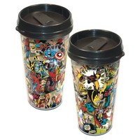 Marvel Comics Collage Plastic Travel Mug - ICUP - Marvel - Mugs at Entertainment Earth