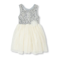 Sleeveless Sequin Tutu Dress | The Children's Place
