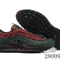 HCXX 19July 1034 Nike Air Max 97 QS Corduroy AT6145-600 Flyknit Breathable Running Shoes