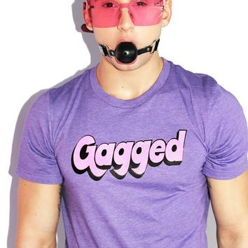 Gagged Tee-Dark Purple