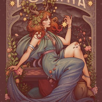 BOHEMIA Art Print by Medusa Dollmaker | Society6