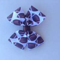Football-hair bow-accessories-Kid's-Toddler-Baby