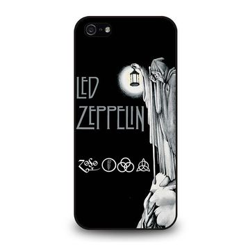 led zeppelin darkness iphone 5 5s se case cover  number 1