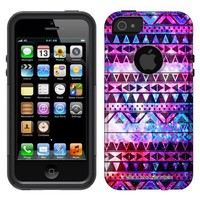 Otterbox Commuter Nebula Black Aztec Galaxy Case for iPhone 5