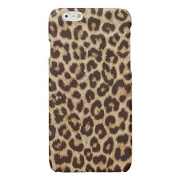 Leopard Print Glossy iPhone 6 Case