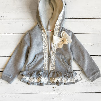Seriously Stylish Top - Heather Grey