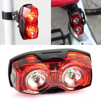 Drop Shipping 2017 2LED Super Bright Bicycle Bike Safety Rear Tail High Quality Cycling Flashing Light Lamp  #ES