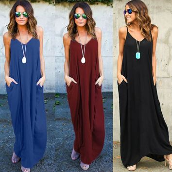 Hippie Boho Womens Summer Cocktail Party Beach Long Maxi Dress